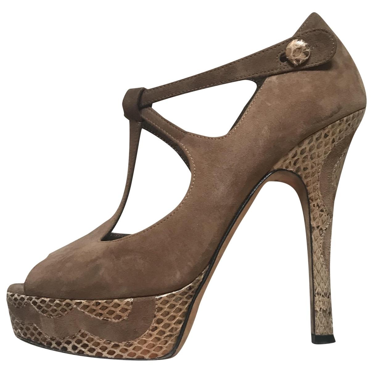 Bally \N Brown Suede Heels for Women 36.5 EU