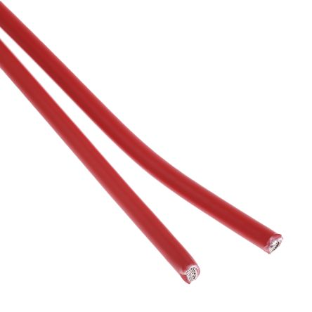 TE Connectivity Red, 2.5 mm² Hook Up Wire 100G Series , 100m