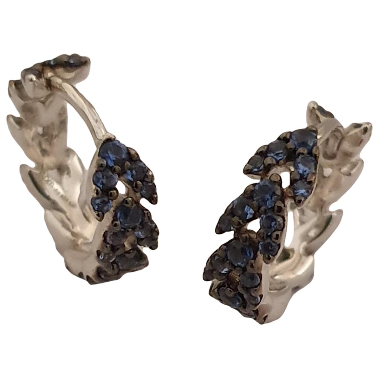 Apm Monaco - Boucles doreilles   pour femme en argent - bleu