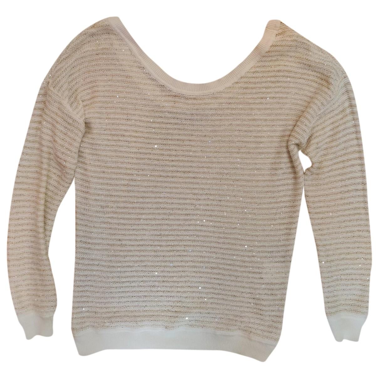 Sandro - Pull   pour femme en coton - dore