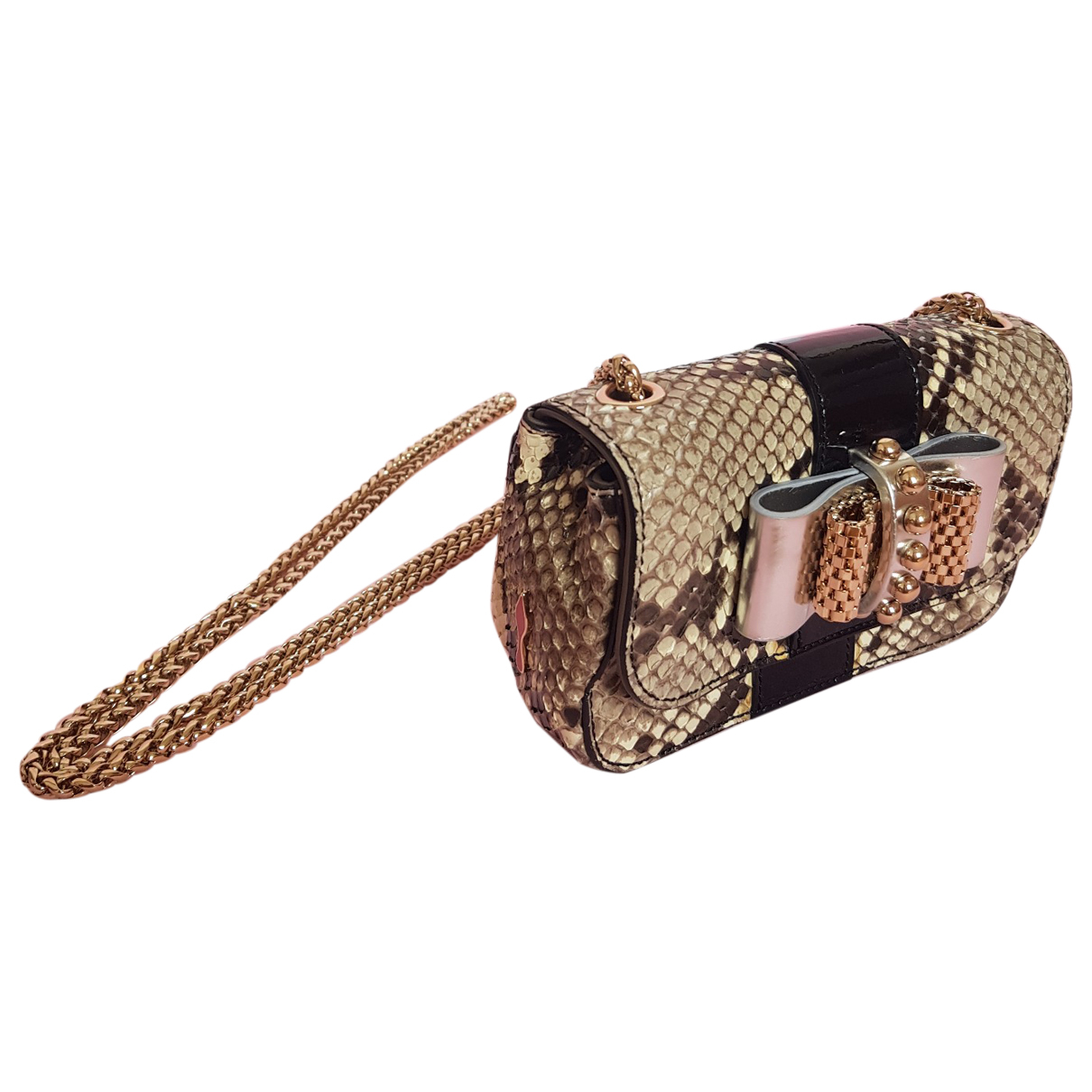 Christian Louboutin Sweet Charity Handtasche in  Gold Python