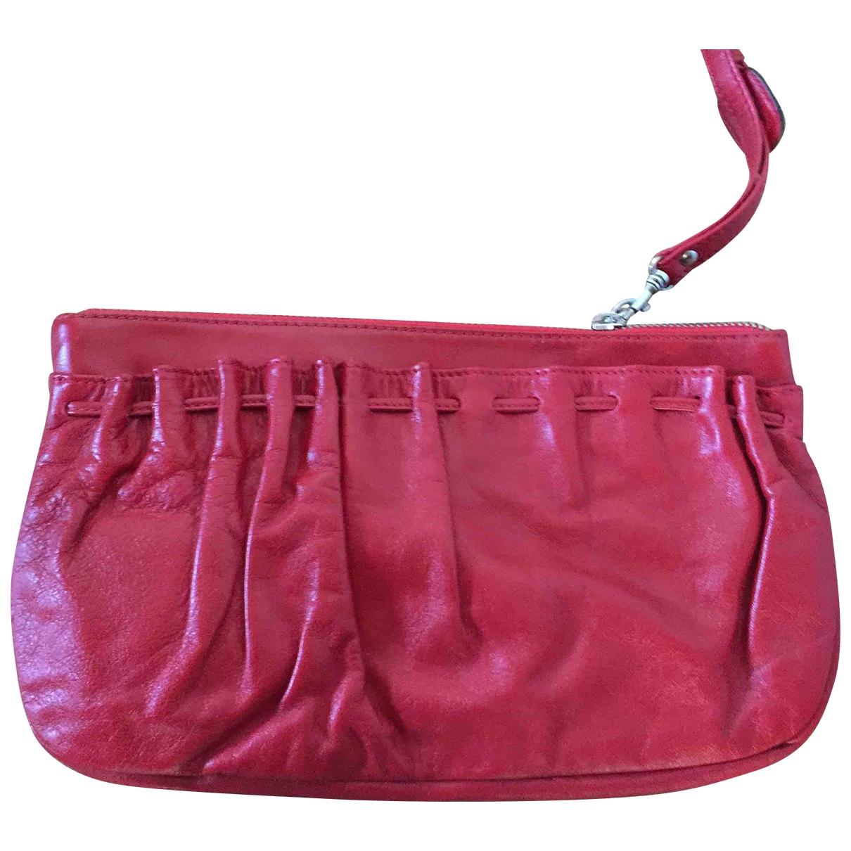 Le Tanneur \N Clutch in  Rot Leder