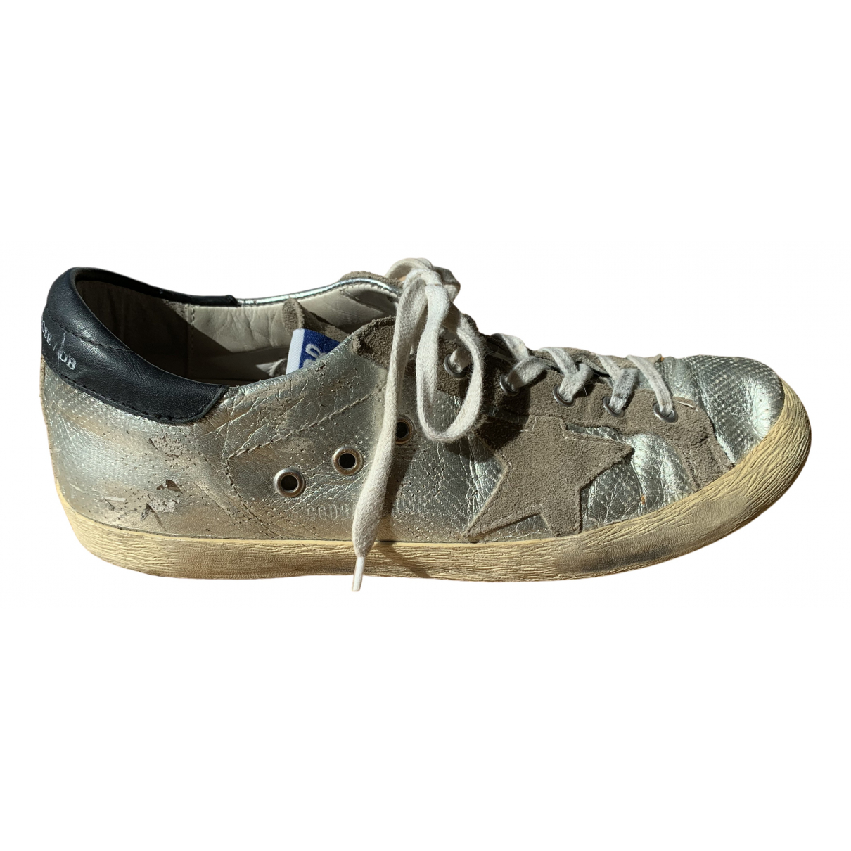 Golden Goose Superstar Silver Leather Trainers for Women 40 IT