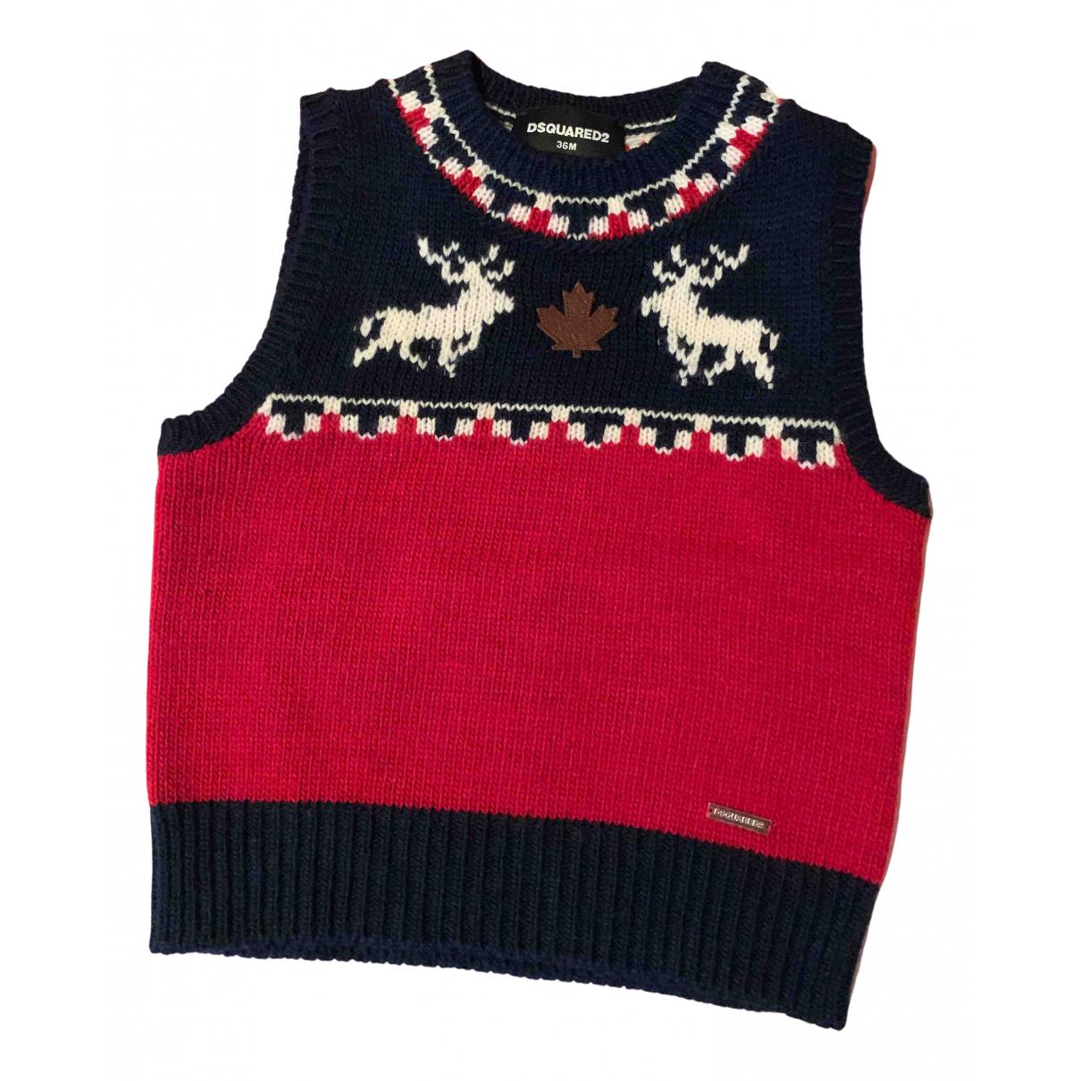 Dsquared2 - Pull   pour enfant en laine - multicolore