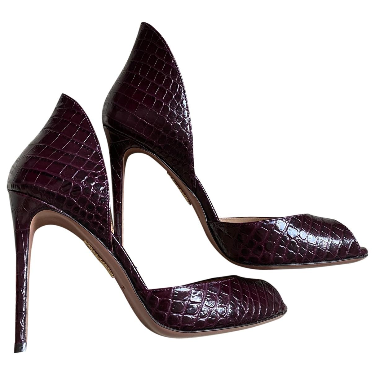 Aquazzura \N Brown Leather Heels for Women 38 EU