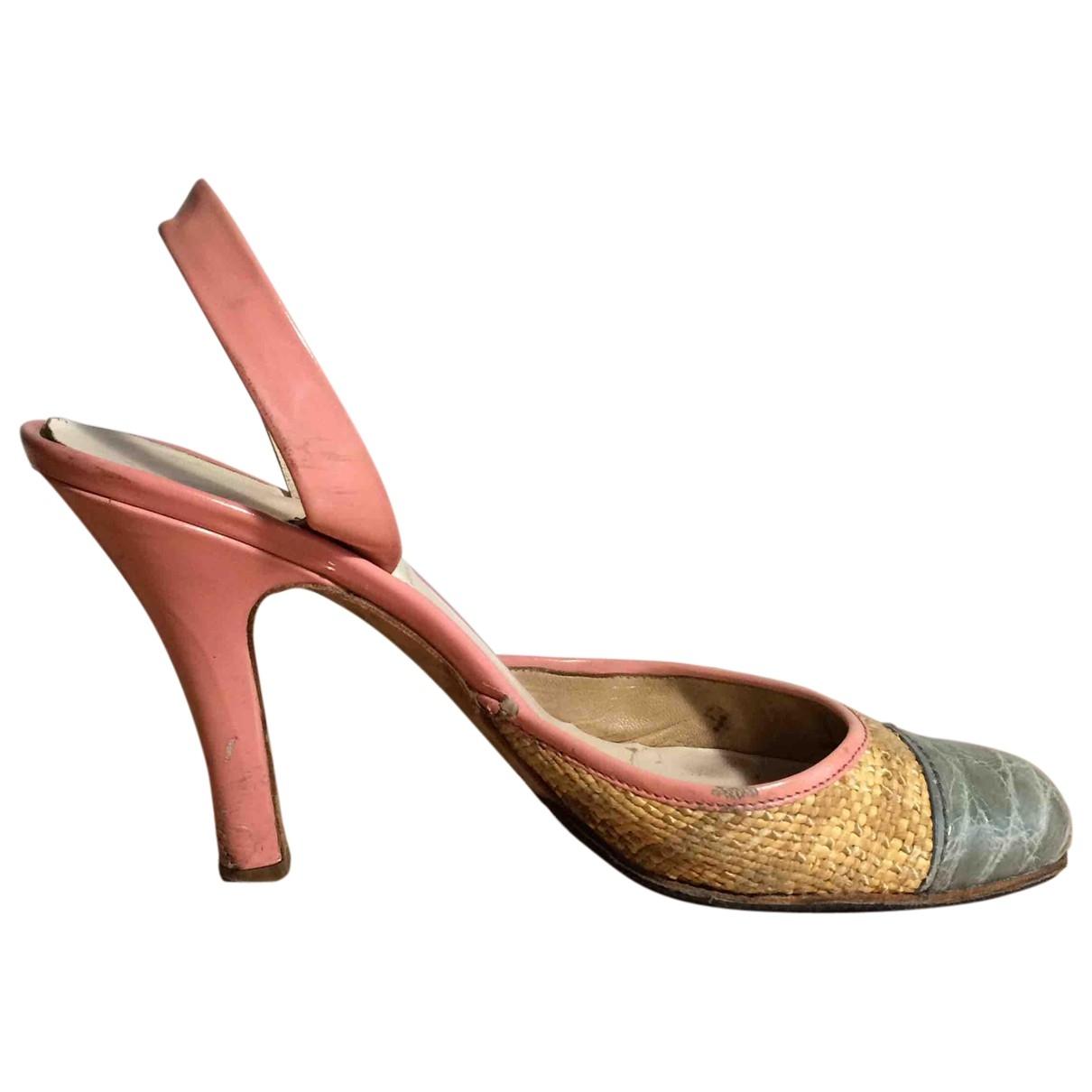 Prada - Sandales   pour femme en cuir - beige