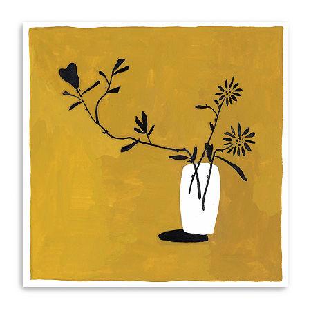 Like Flowers Ii Giclee Canvas Art, One Size , Yellow