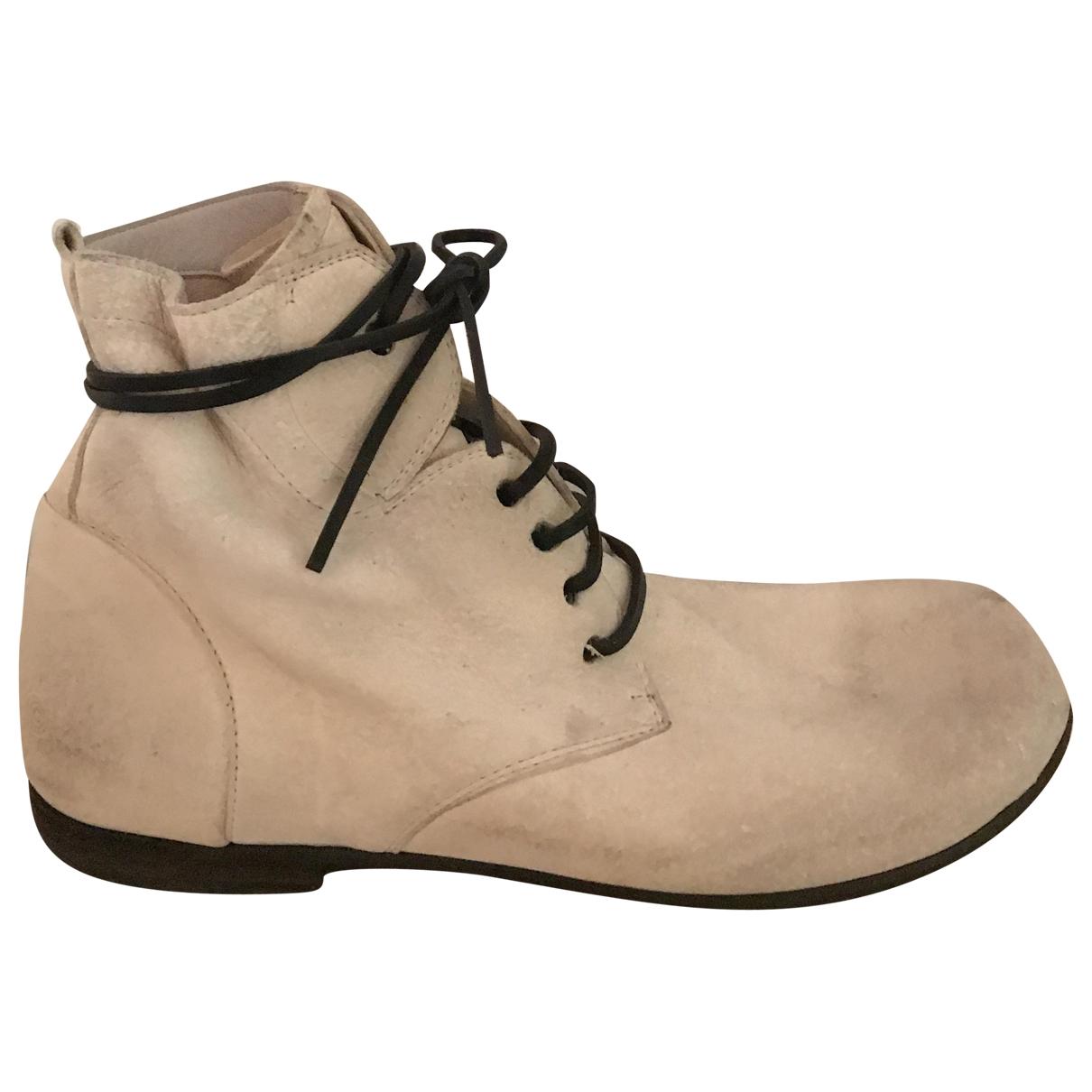 Marsell - Boots   pour femme en cuir - beige