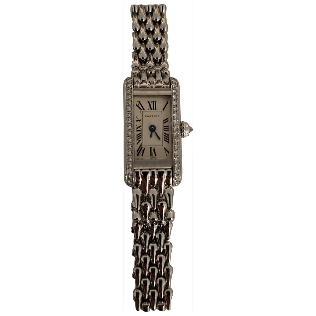 Cartier Tank Americaine Uhr in Weissgold