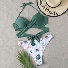 Plus Tropical Twist Push Up Bikini Swimsuit