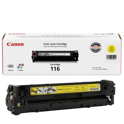 Canon 116Y 1977B001AA Original Yellow Toner Cartridge