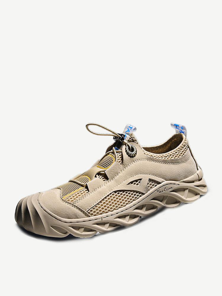 Men Luminous Mesh Breathable Outdoor Casual Hiking Sneakers