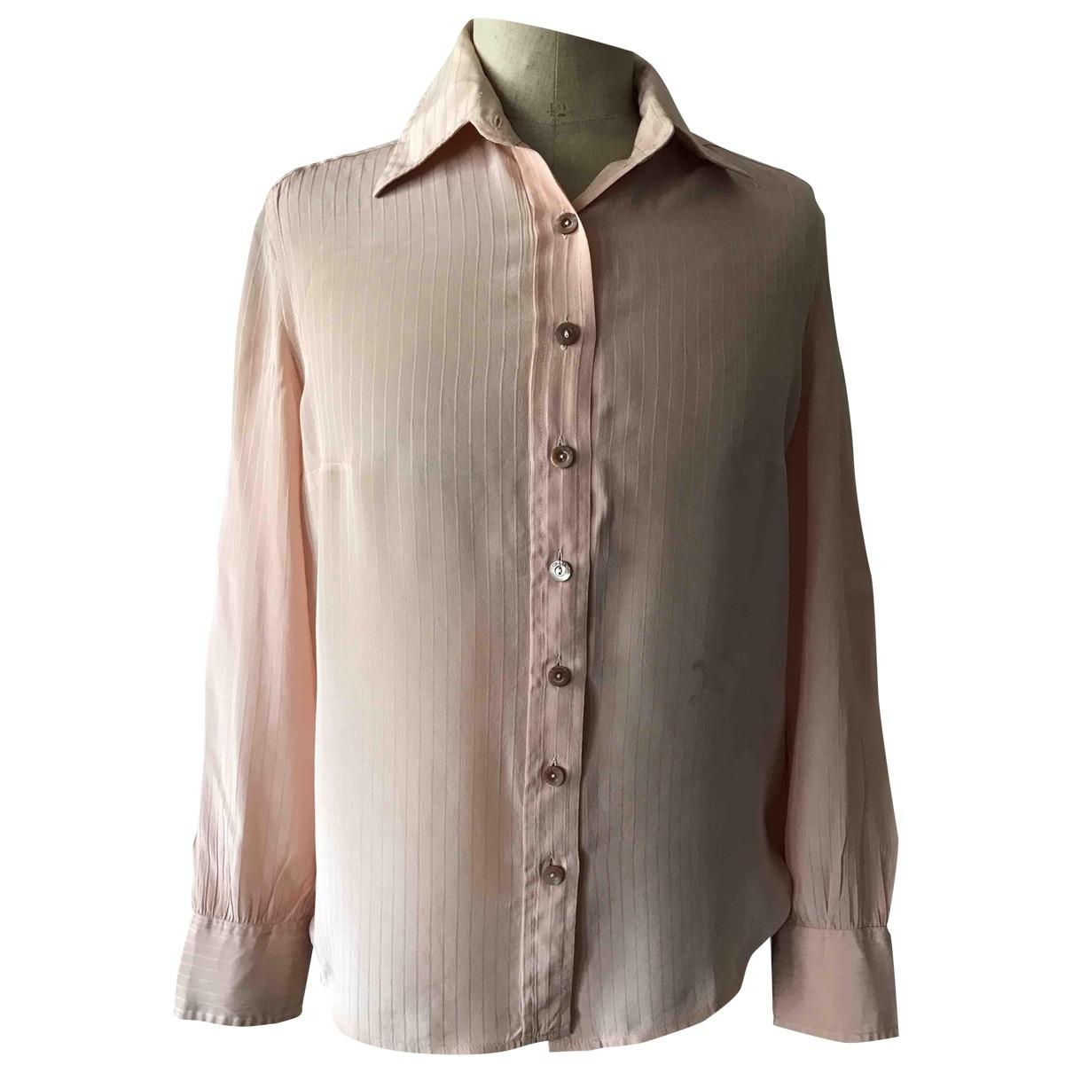 Celine - Top   pour femme en soie - rose