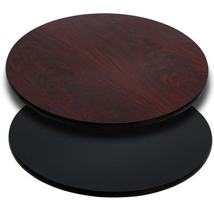 XU-RD-42-MBT-GG 42'' Round Table Top with Black or Mahogany Reversible Laminate