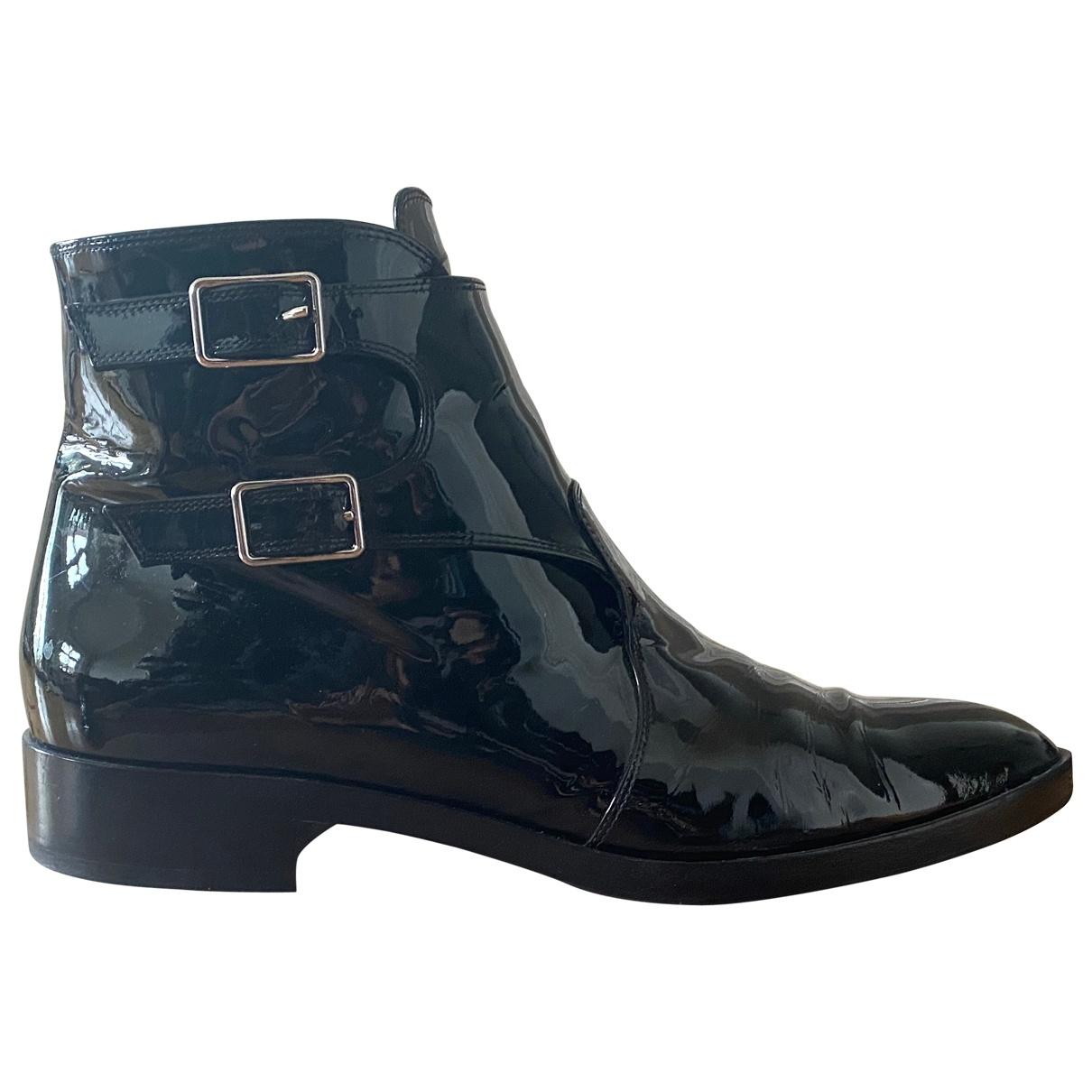 Gianvito Rossi - Boots   pour femme en cuir verni - noir