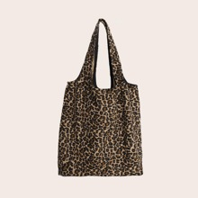 Leopard Graphic Shopper Bag