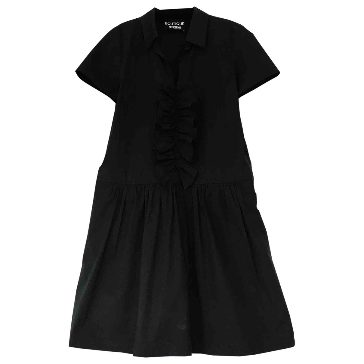 Moschino \N Black Cotton - elasthane dress for Women 46 IT