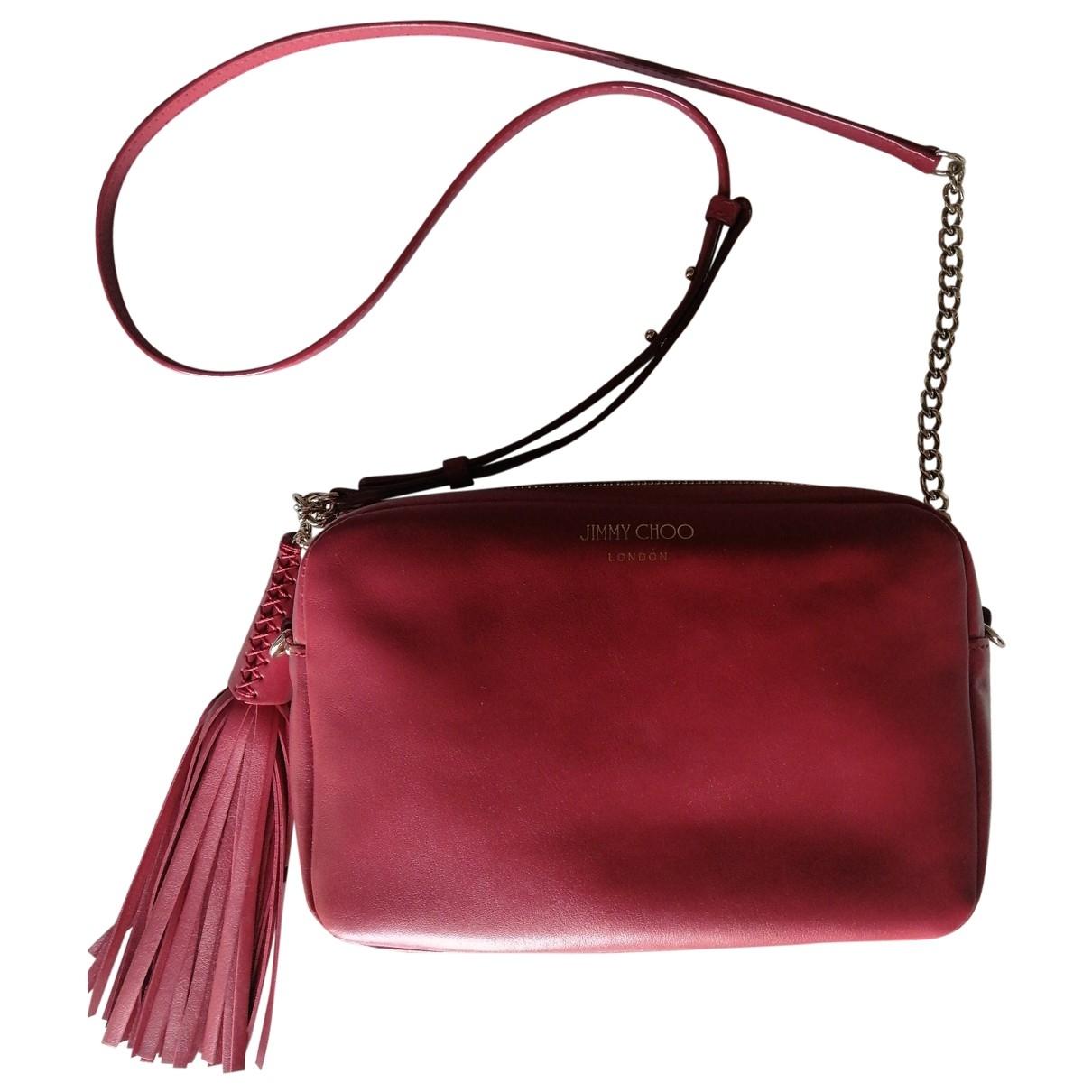 Jimmy Choo \N Handtasche in  Rot Leder