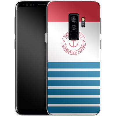 Samsung Galaxy S9 Plus Silikon Handyhuelle - Hamburger Hafen von caseable Designs