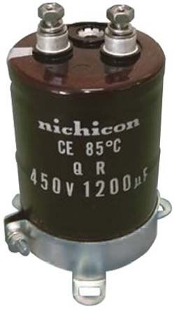 Nichicon 5600μF Electrolytic Capacitor 450V dc, Screw Mount - LQR2W562MSEJ