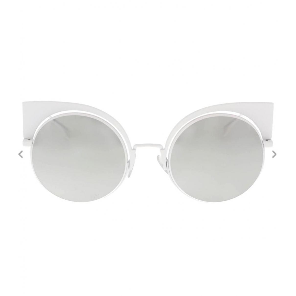Fendi \N White Metal Sunglasses for Women \N