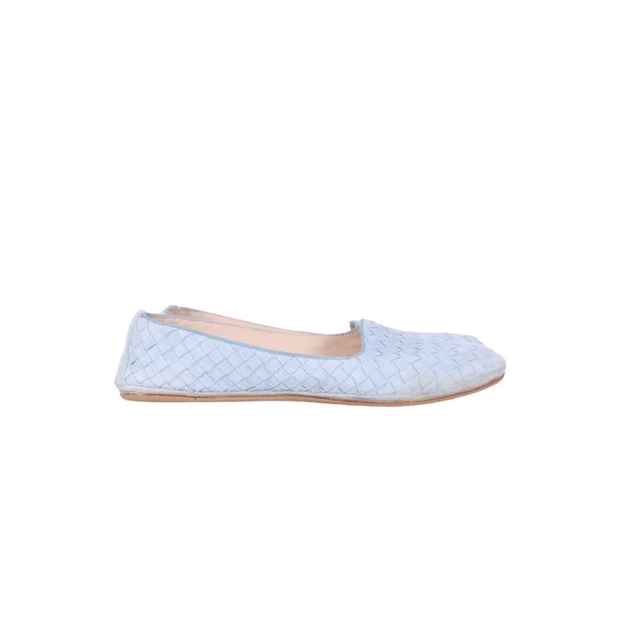 Bottega Veneta \N Blue Suede Ballet flats for Women 38 EU
