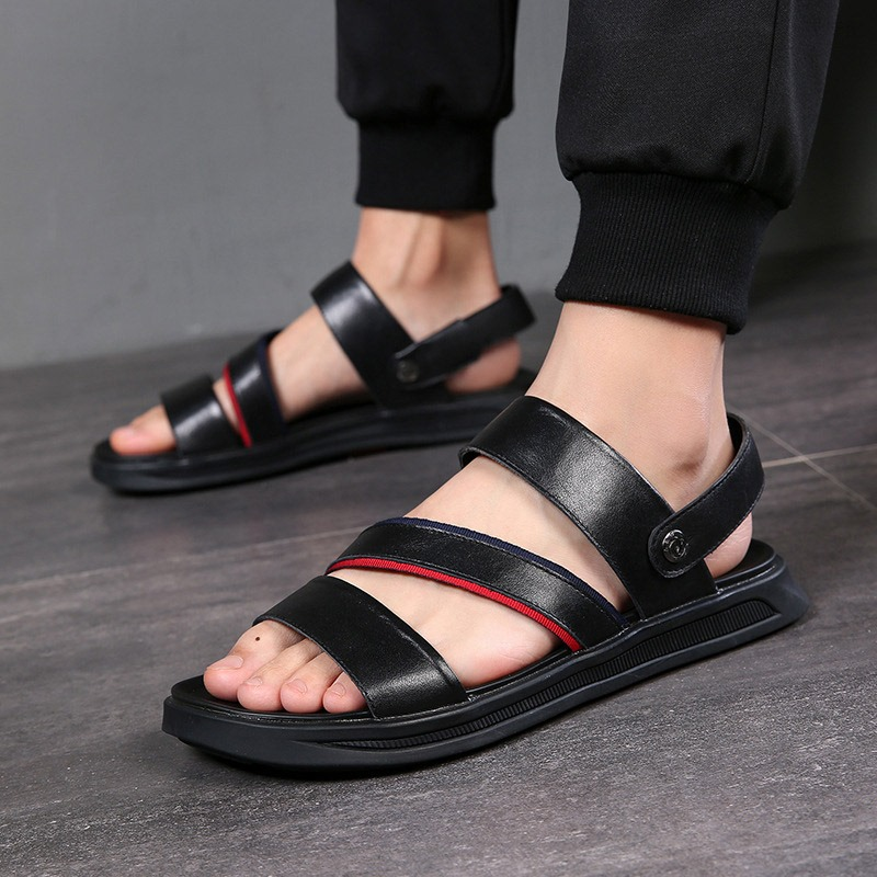 Ericdress PU Slip-On Open Toe Men's Casual Sandals