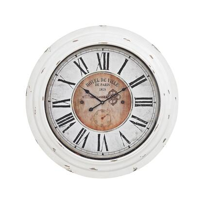 351-10246 Theodore Wall Clock  In Antique