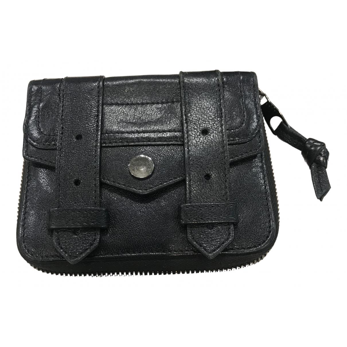 Proenza Schouler - Portefeuille   pour femme en cuir - noir