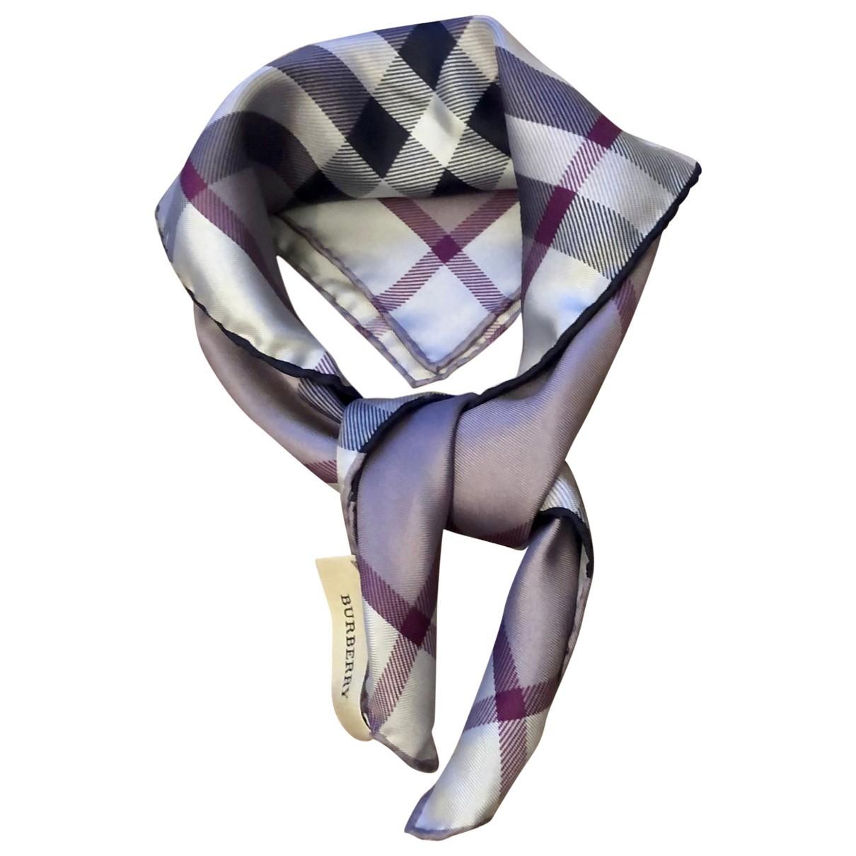 Burberry N Purple Silk Silk handkerchief for Women N