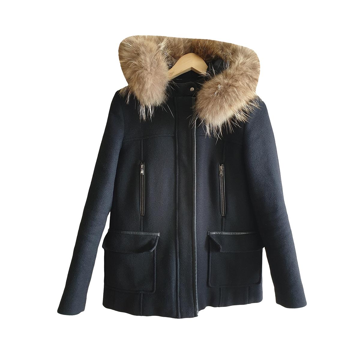Zapa - Manteau   pour femme en laine - noir