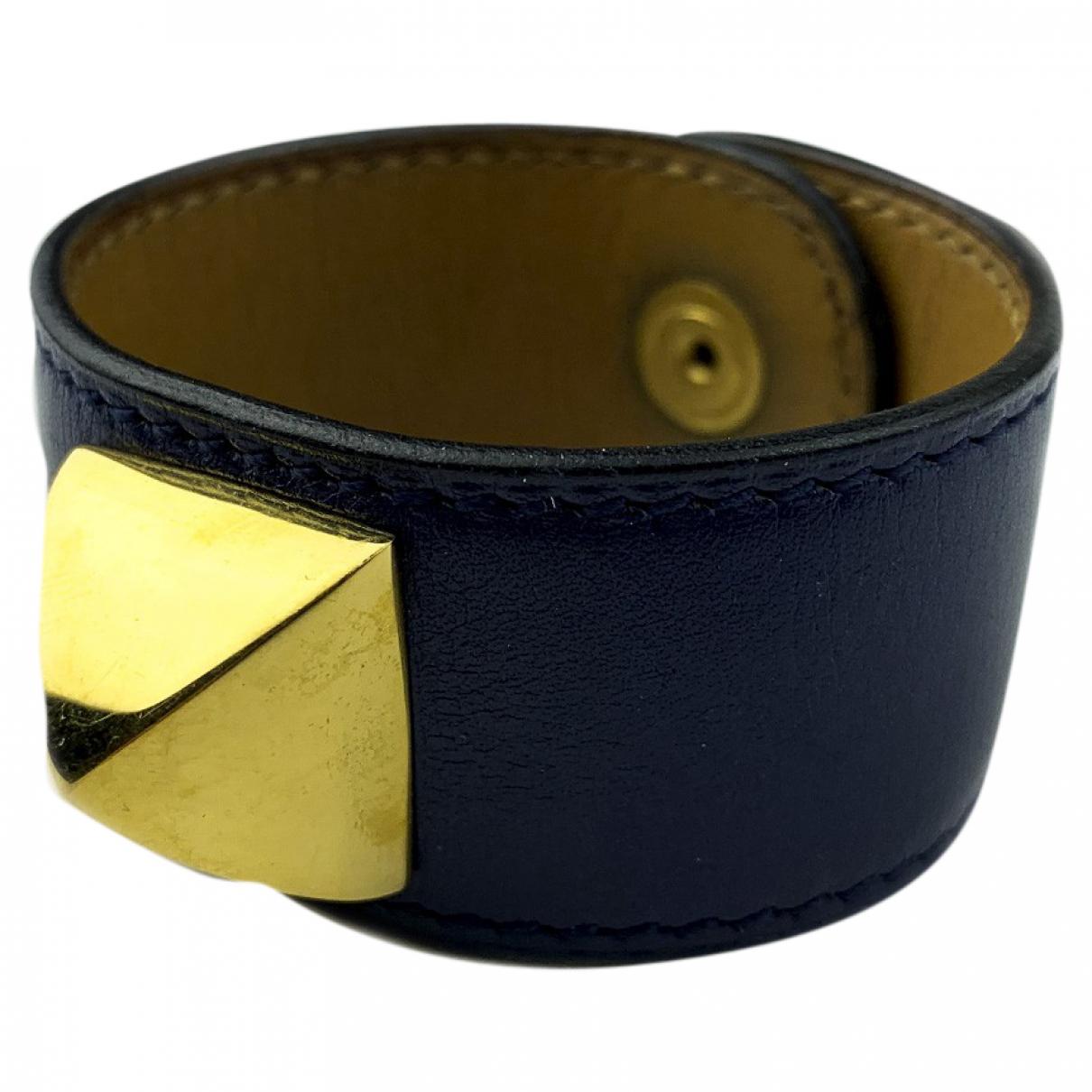 Hermes - Bracelet Medor pour femme en cuir - bleu