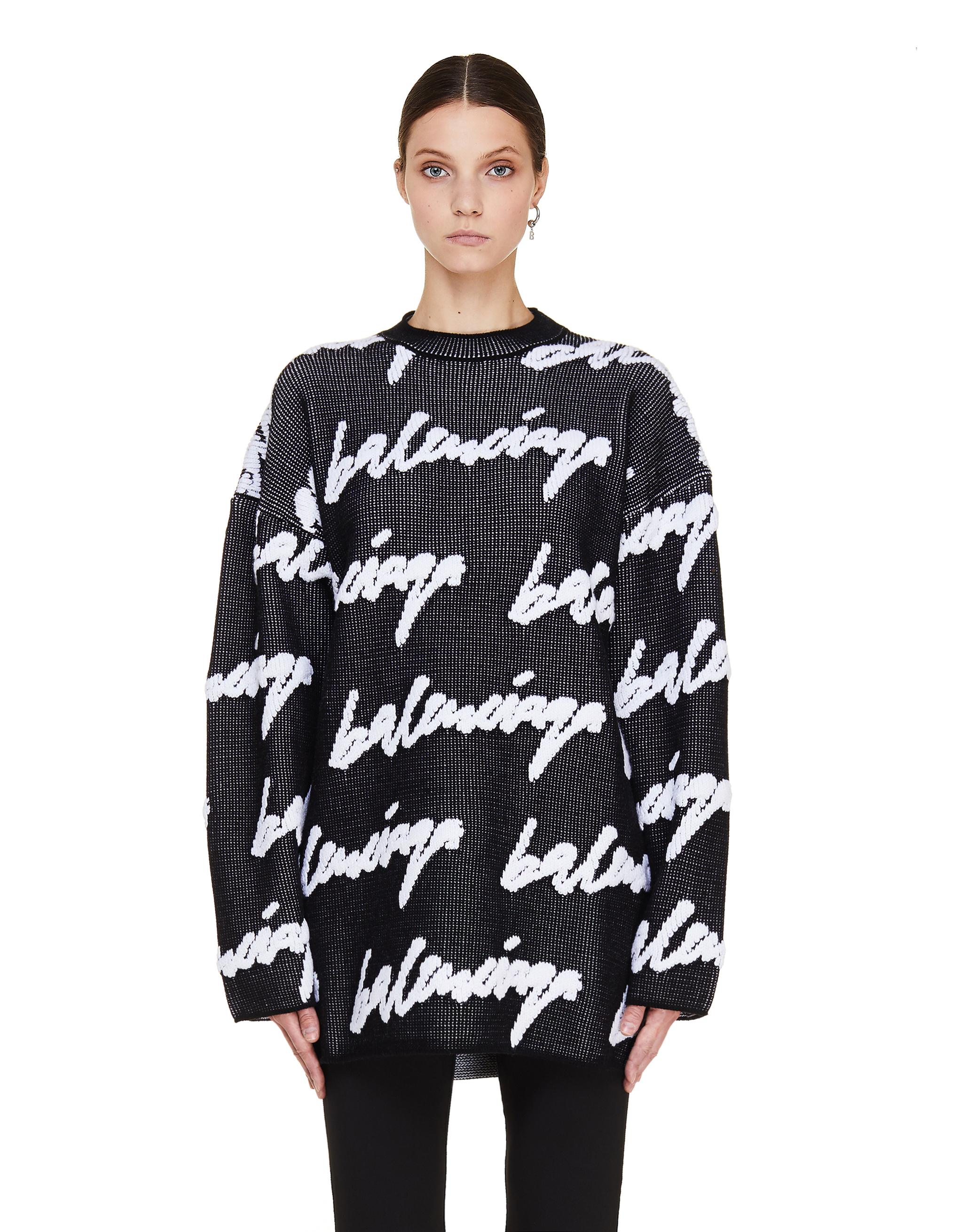 Balenciaga Scribble Logo Sweater