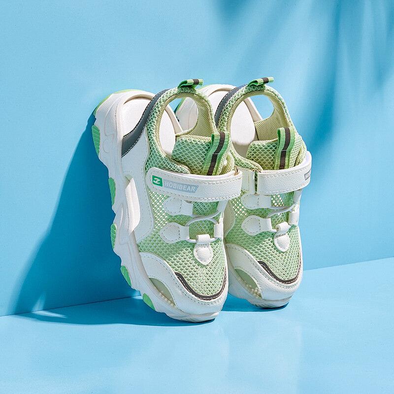 HOBIBEAR Unisex Kids Lightweight Closed Toe Casual Beach Sandals