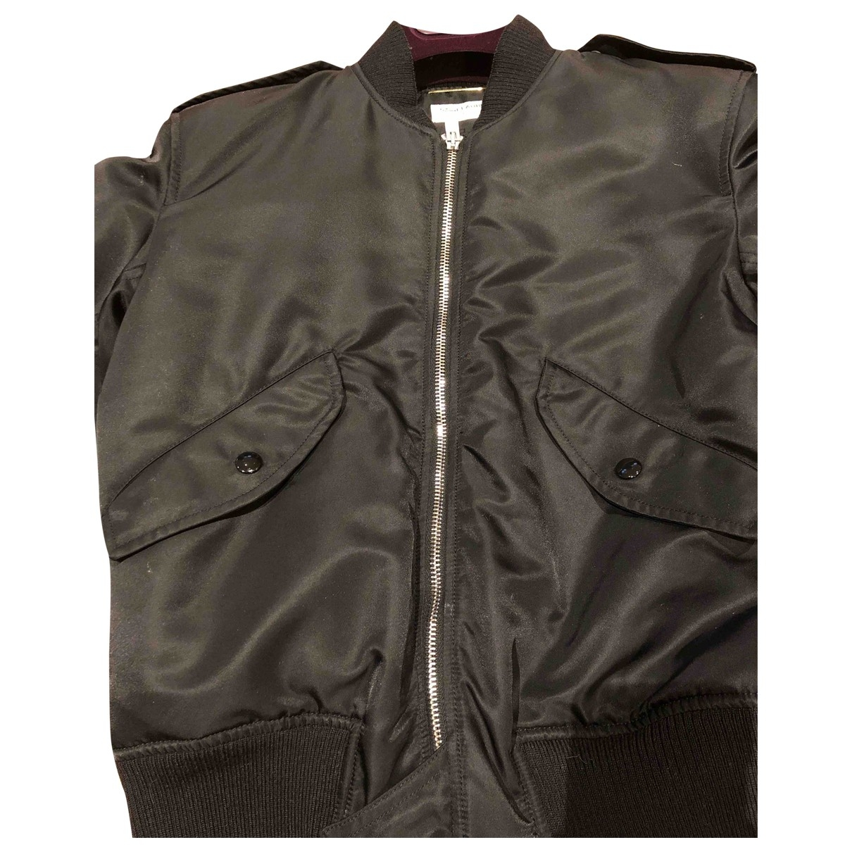 Saint Laurent \N Black Leather jacket for Women 38 FR