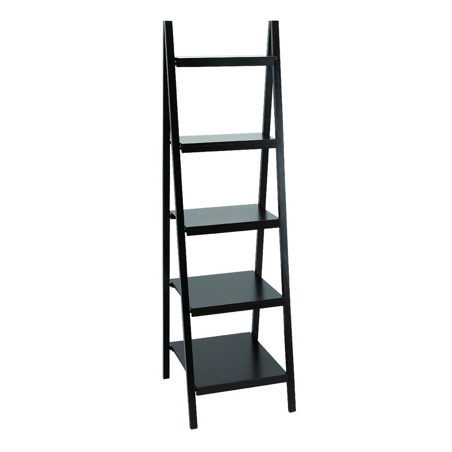 66-inch Wood Bookcase (Black)