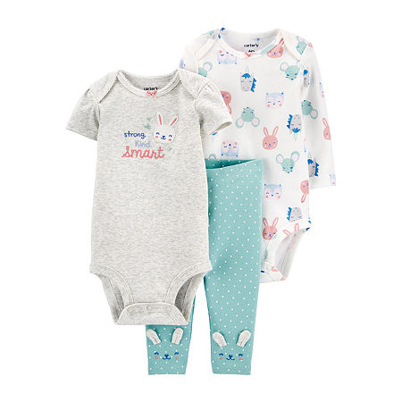 Carter's Baby Girls 3-pc. Baby Clothing Set, 24 Months , Multiple Colors