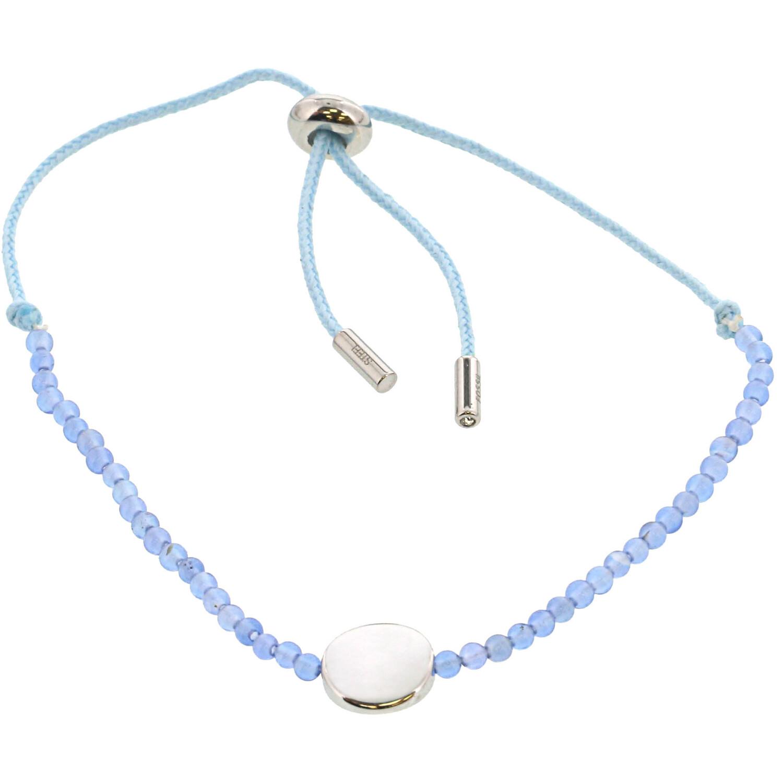 Fossil Women's Blue Agate Disc Bracelet Strand JF02979040