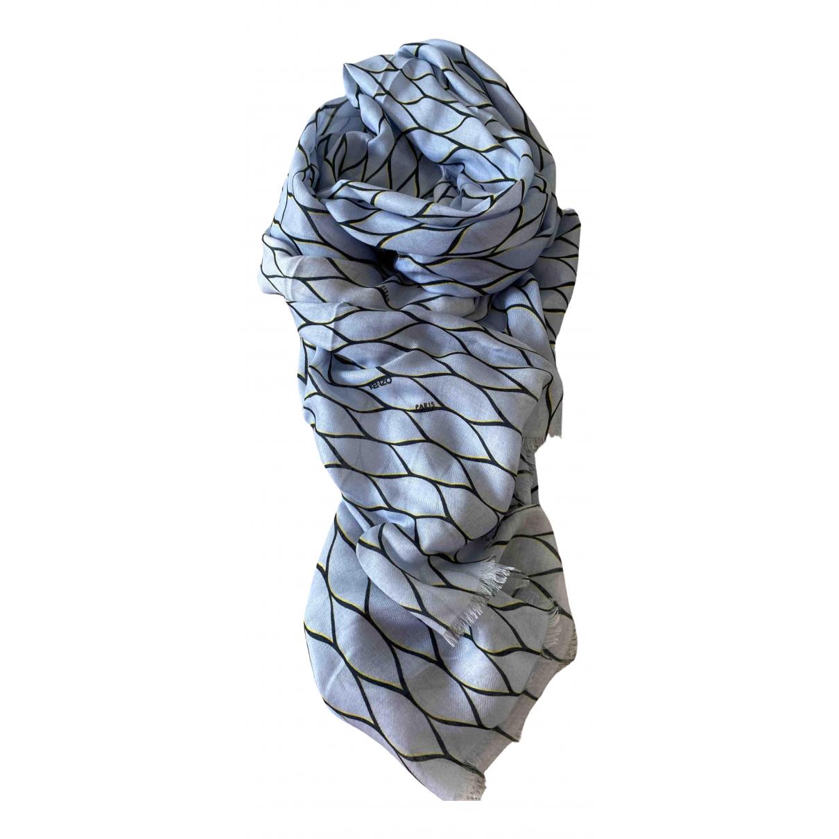 Kenzo \N Blue Silk scarf for Women \N