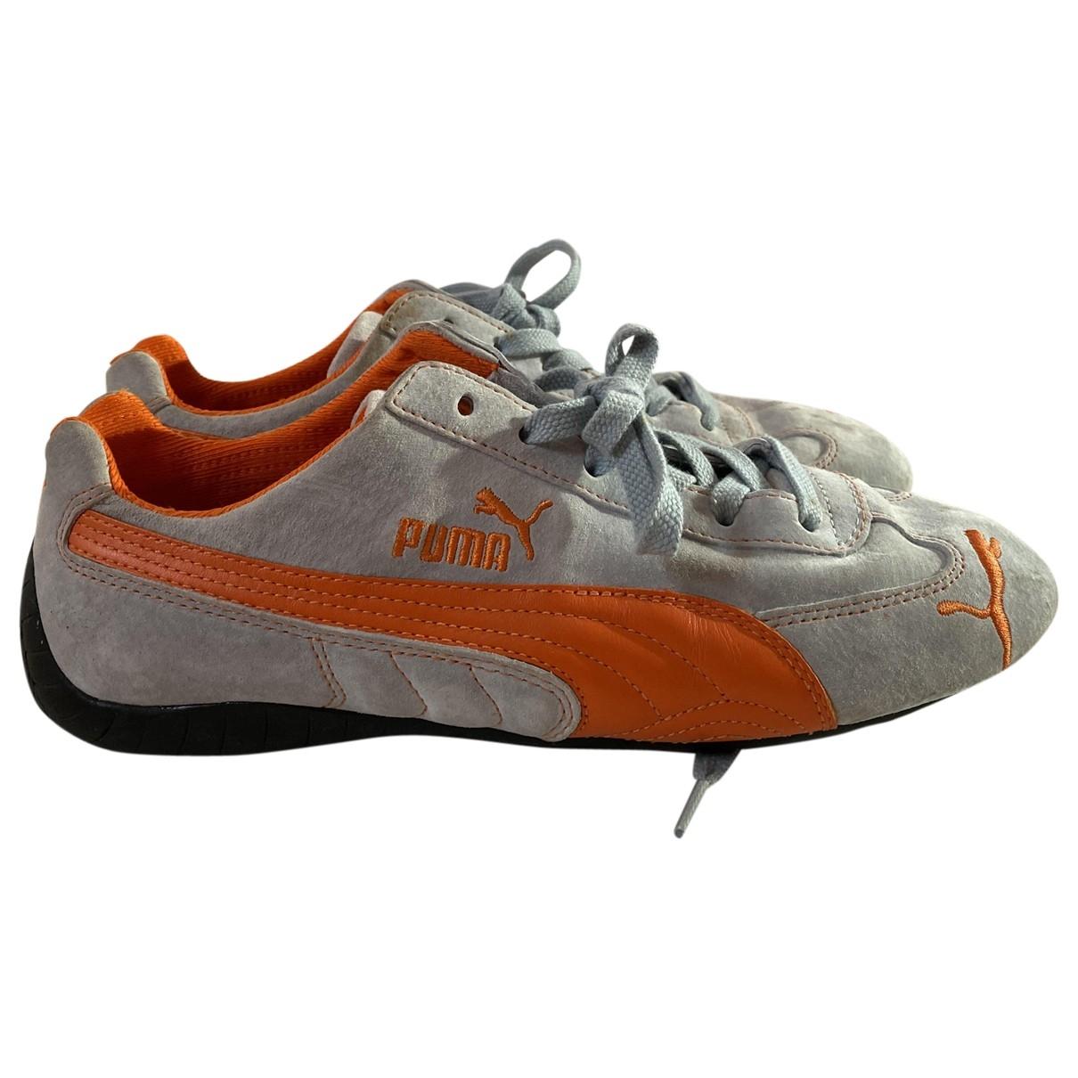 Puma \N Sneakers in  Blau Veloursleder