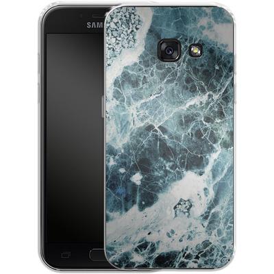 Samsung Galaxy A3 (2017) Silikon Handyhuelle - Blue Sea Marble von Emanuela Carratoni