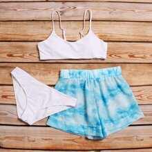 Sets de bikini Tie-Dye Azul Dulce