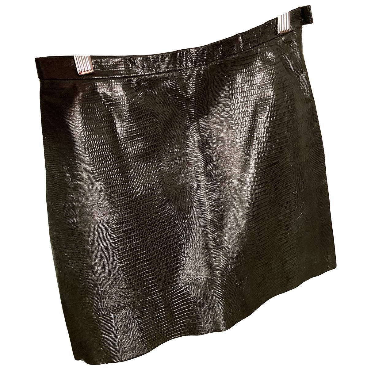 & Stories N Green Leather skirt for Women 34 FR