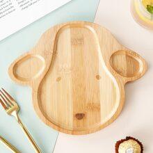 1 Stueck Kinder Holz Teller mit Karikatur Design