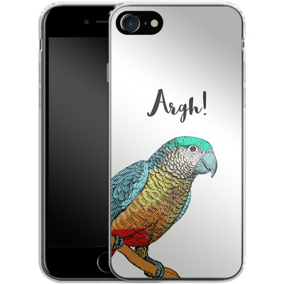 Apple iPhone 8 Silikon Handyhuelle - Parrot Pirate von caseable Designs