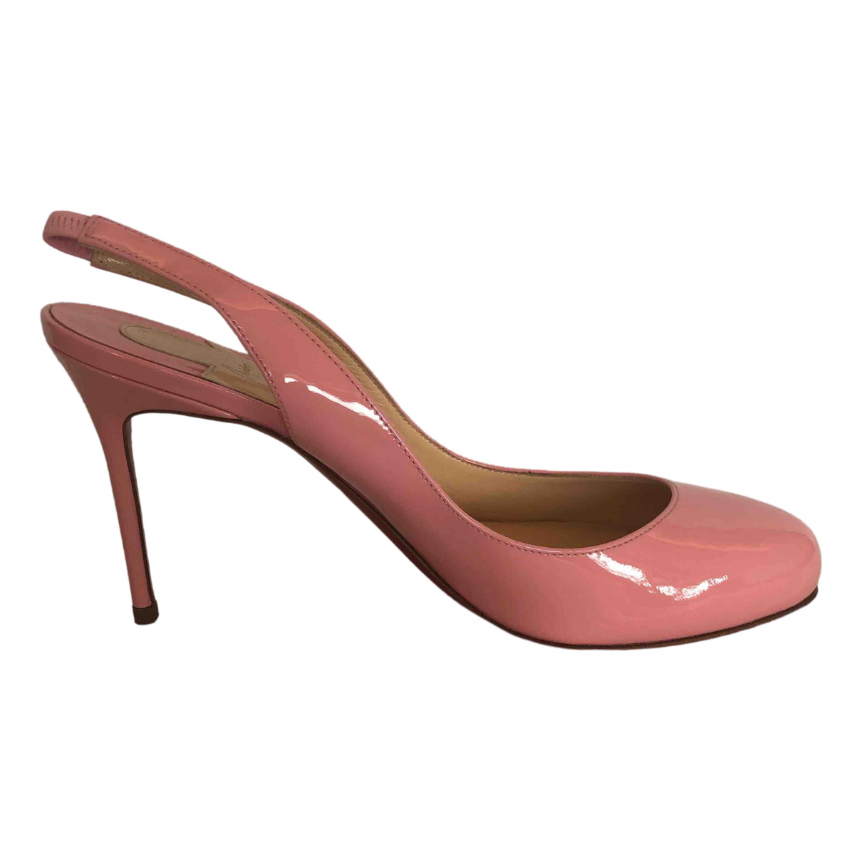 Christian Louboutin Simple pump Pink Patent leather Heels for Women 37 EU