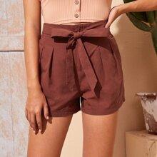 Shorts mit Band vorn und breitem Beinschnitt