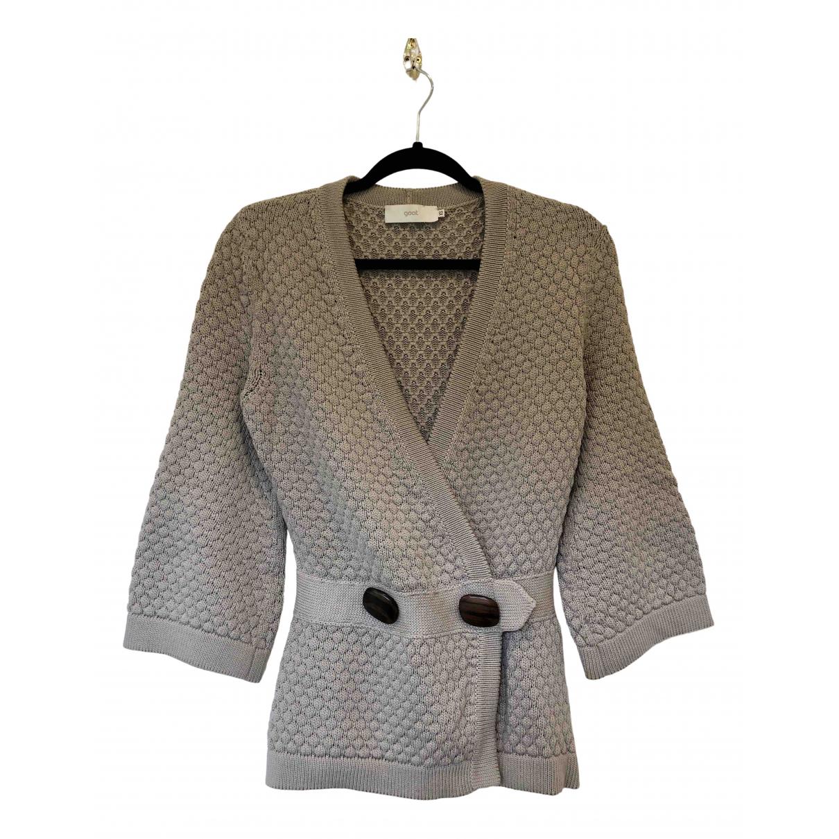 Goat - Pull   pour femme en coton - gris
