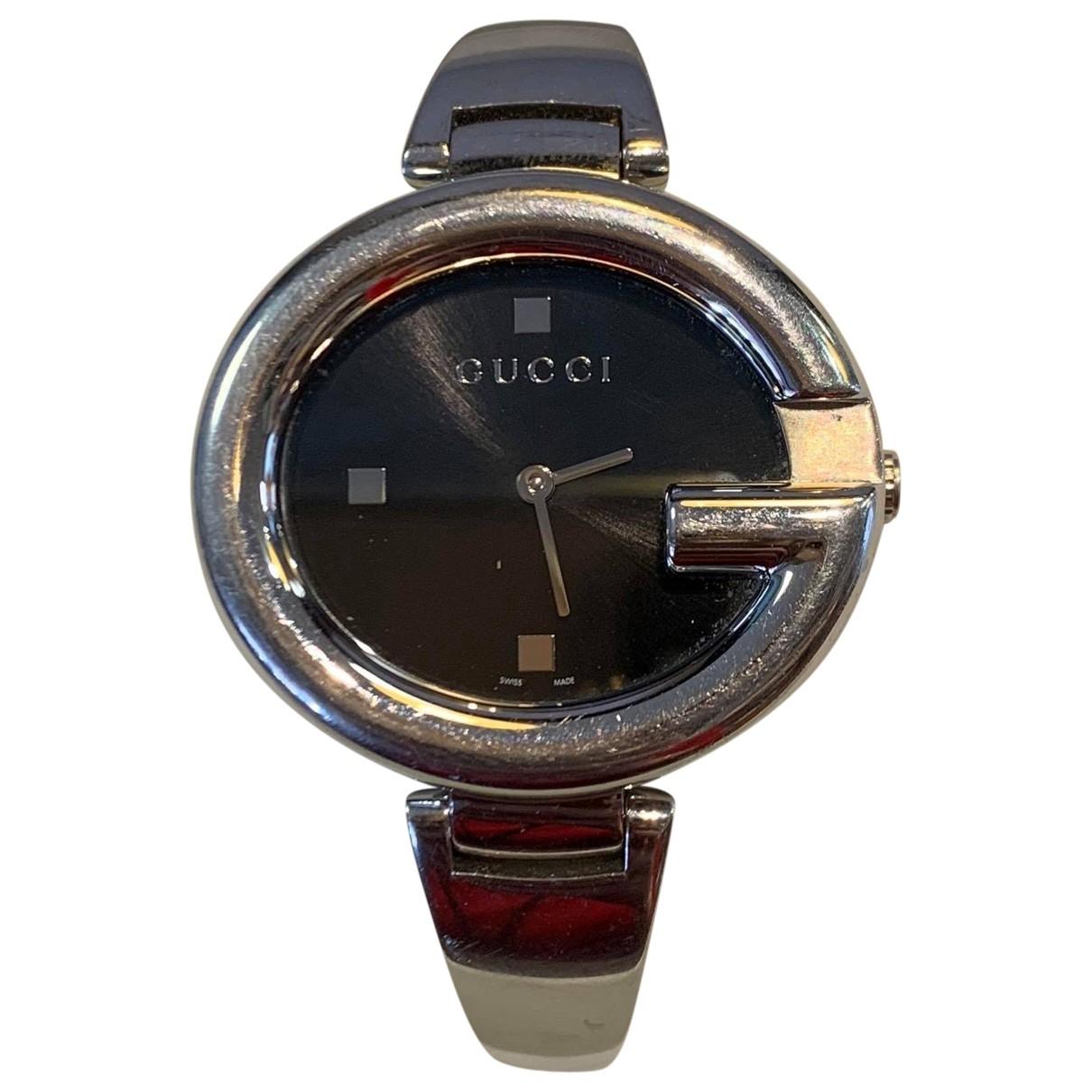 Gucci - Montre Horsebit pour femme en acier - argente