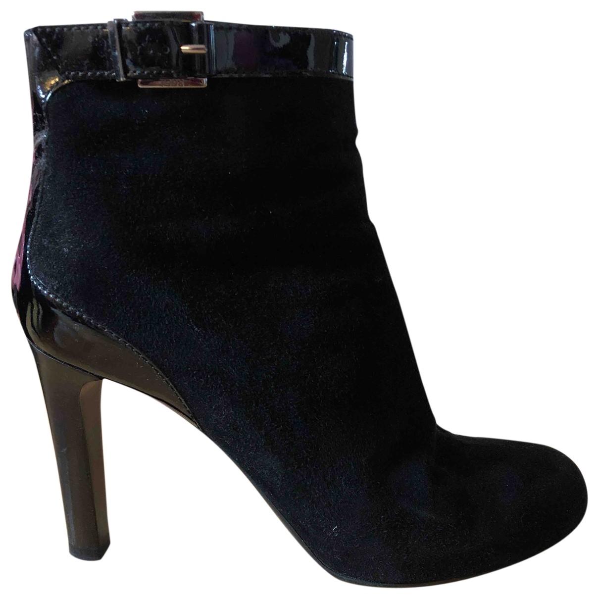 Tods - Boots   pour femme en velours - noir